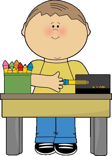 cute boy pencil clipart