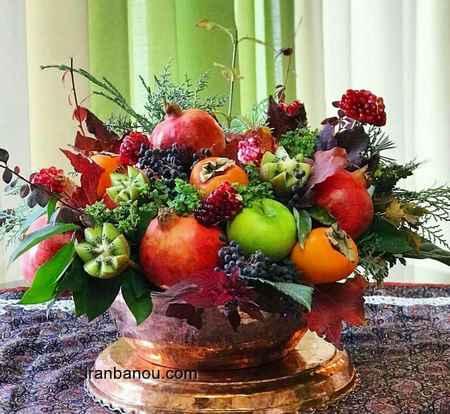 تزیین ساده میوه شب یلدا