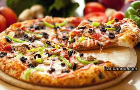 پیتزا با خمیر نون بربری