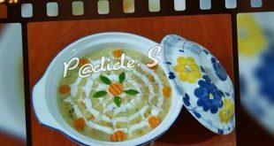 تزیین سوپ جو پرک