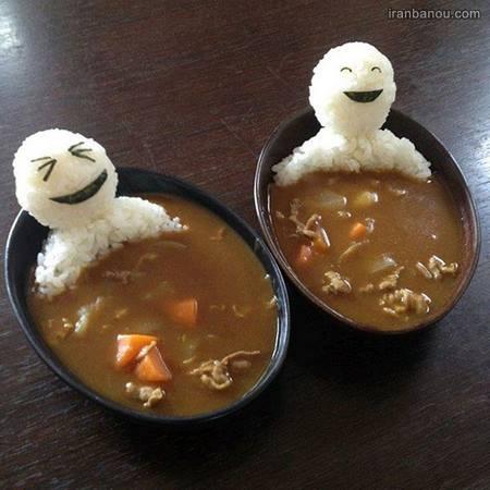 تزیین سوپ برای کودکان