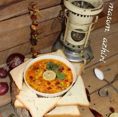تزیین سوپ رشته با هویج