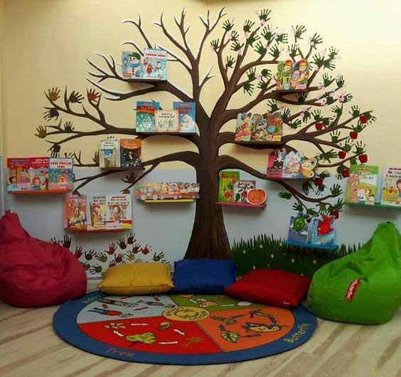 کاردستی جشن الفبا، کتابخانه مدرسه، کتابخانه درختی