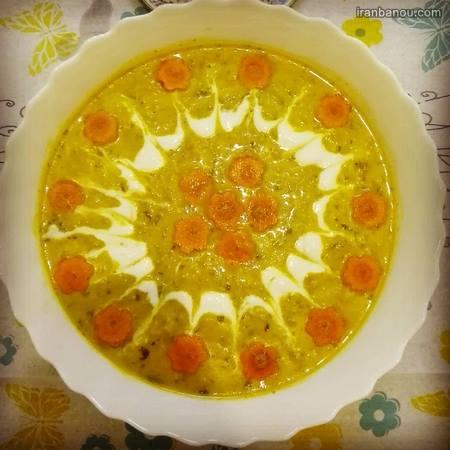 تزیین سوپ با هویج