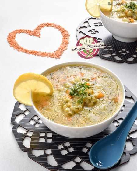 تزیین سوپ قارچ