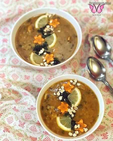 تزیین جدید انواع سوپ