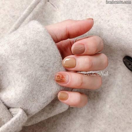 طراحی ناخن کوتاه ساده