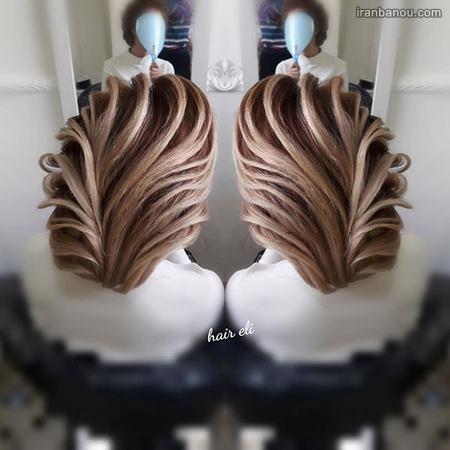 مدل موی نیمه باز مجلسی
