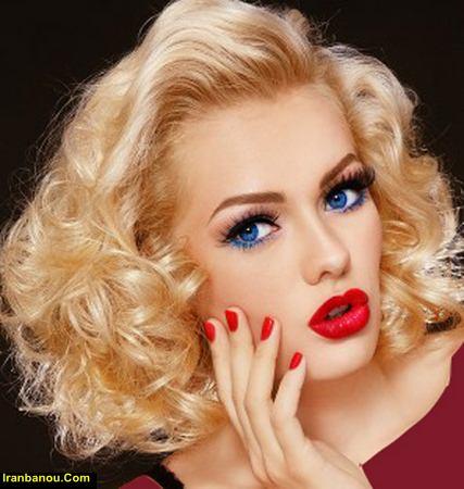 آرایش با رنگ موی بادمجانی