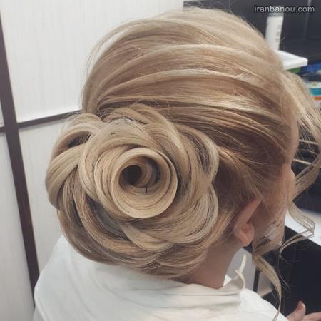 مدل مو با تاج گل دخترانه