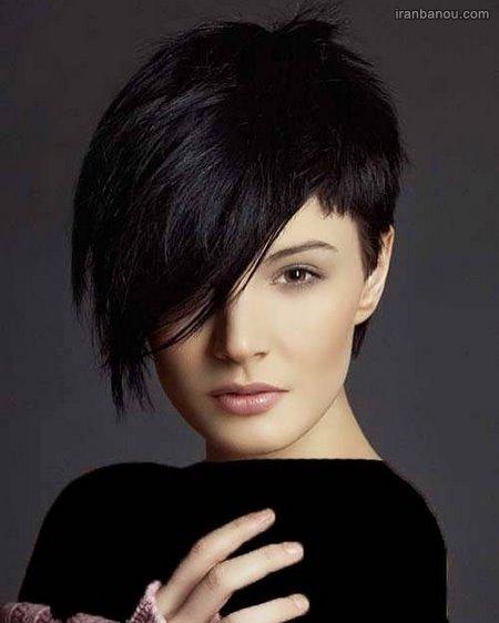 مدل موی کوتاه فشن برای صورت گرد