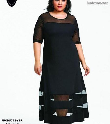 لباس زنانه سایز بزرگ شیک