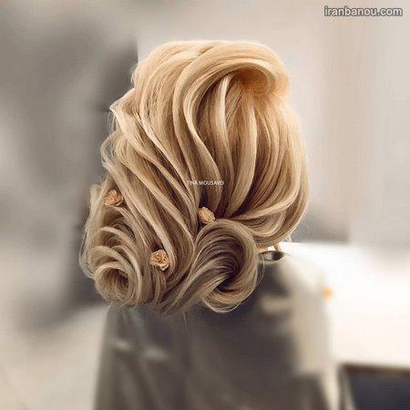 مدل موی باز با تاج گل