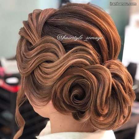 شینیون موی زیبا عروس