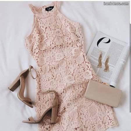 لباس کوتاه گیپور دخترانه