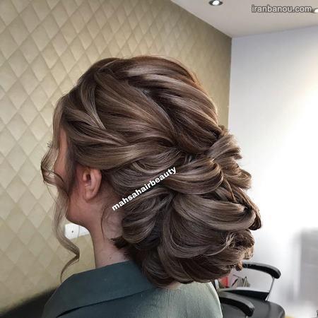 مدل مو عروس با گل طبیعی