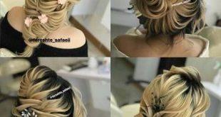 مدل مو باز با تاج گل طبيعي