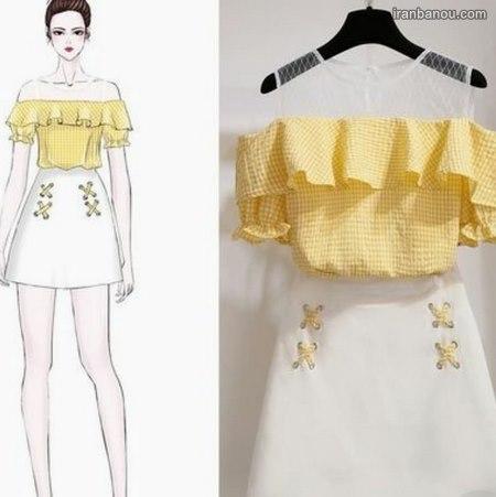 مدل لباس مجلسی کوتاه ساده وشیک