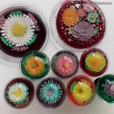 تزیین ژله خرده شیشه با میوه
