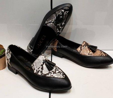 کفش مجلسی بدون پاشنه مشکی