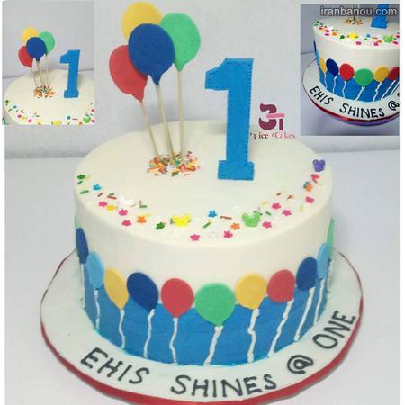 کیک تولد پسرانه ساده
