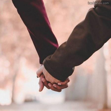 عکس دست عاشقانه پاییز