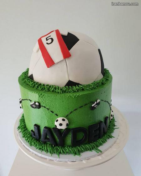 کیک تولد پسرانه فوتبالی پرسپولیس
