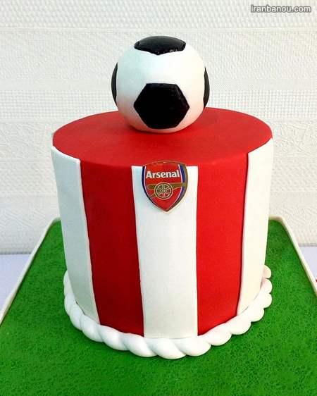 کیک تولد فوتبالی رئال مادرید