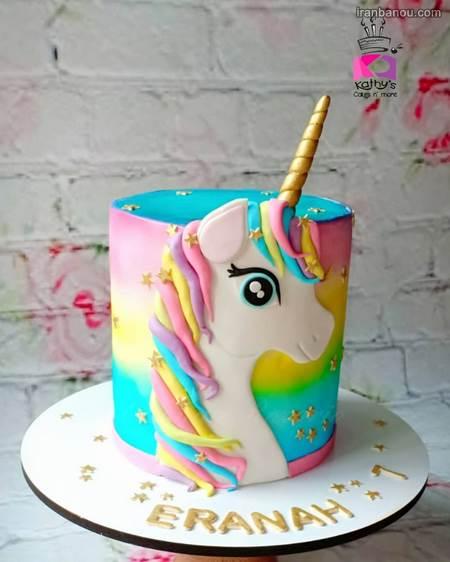 کیک تولد اسب تک شاخ