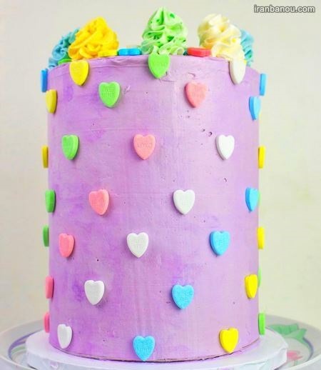کیک تولد دخترانه بزرگسال بدون فوندانت