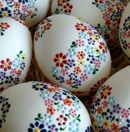 عکس تخمه مرغ رنگی