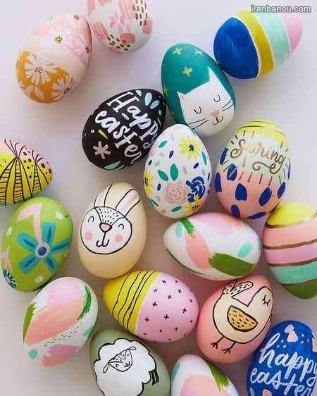 تزیین تخم مرغ هفت سین با نگین