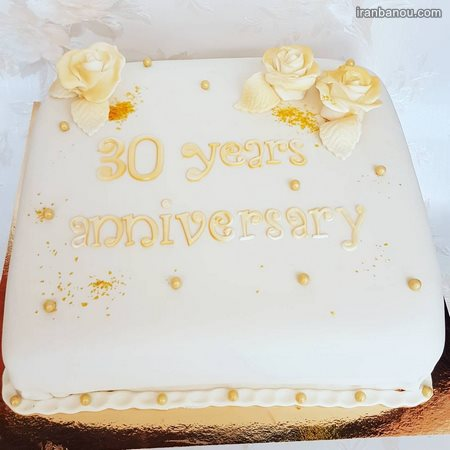 کیک سالگرد ساده