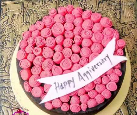 تزیین کیک سالگرد ازدواج عکس