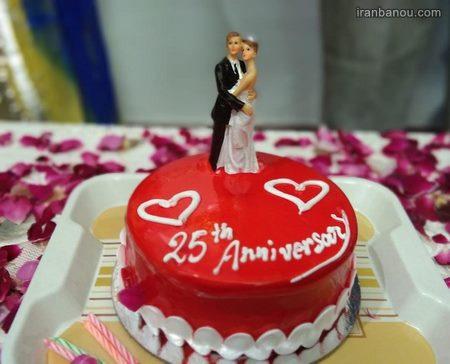 کیک سالگرد ازدواج لاکچری