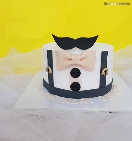 تزیین کیک مردانه با خامه