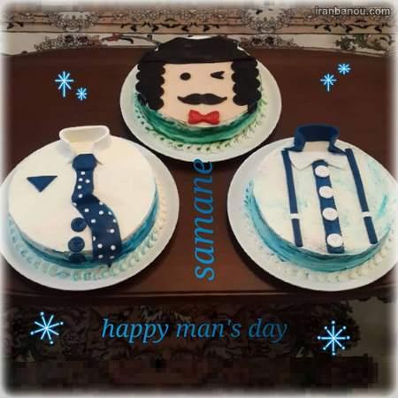 مدل کیک تولد مردانه عاشقانه