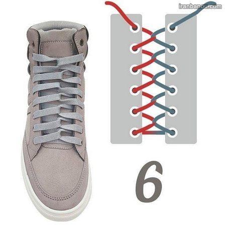 مدل بستن بند کفش با 5 سوراخ