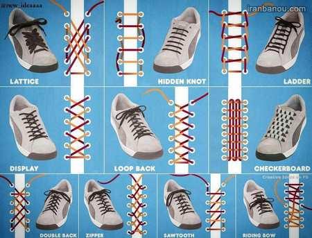 آموزش بستن بند کفش ساده