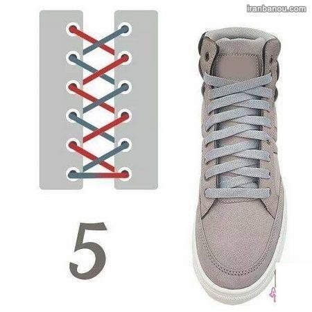 مدل بستن بند کفش اسپرت دخترانه