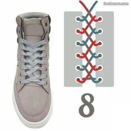 مدل بستن بند کفش اسپرت جدید