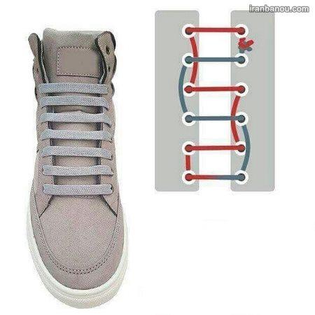 بستن بند کفش پاپیونی