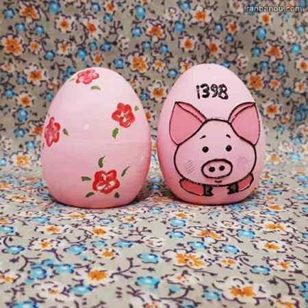 نقاشی خوک روی تخم مرغ