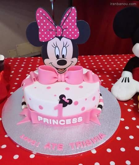 کیک تولد دخترانه ساده شیک