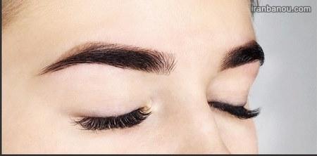 آرایش ابرو پهن