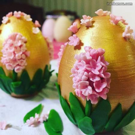 تزیین لاکچری تخم مرغ برای سفره هفت سین