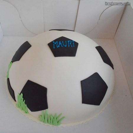 مدل کیک تولد توپ فوتبال