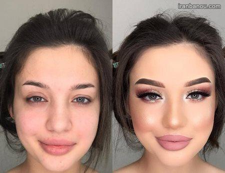 عکس قبل و بعد از آرایش و میکاپ های دخترانه ۹۹ و ۲۰۲۰