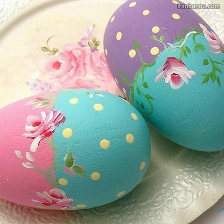 تزیین تخمه مرغ هفت سین با پارچه