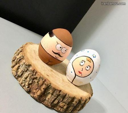تزیین تخمه مرغ به شکل خروس